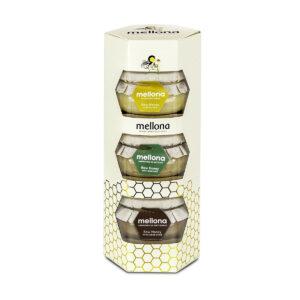 Mellona Raw Honey Gift Set (3 x 250g)