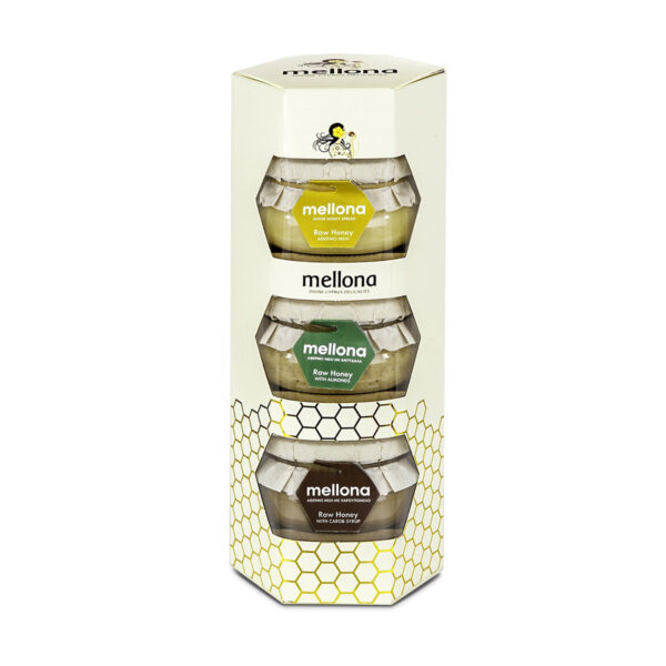 Mellona Raw Honey Gift Set (3 x 250g)