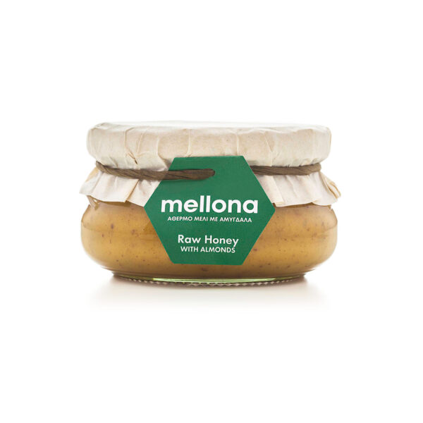 Mellona Raw Honey with Almonds 250g