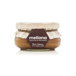 Mellona Raw Honey with Carob Syrup 250g