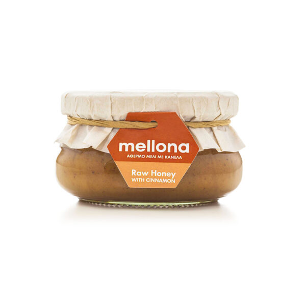 Mellona Raw Honey with Cinnamon 250g