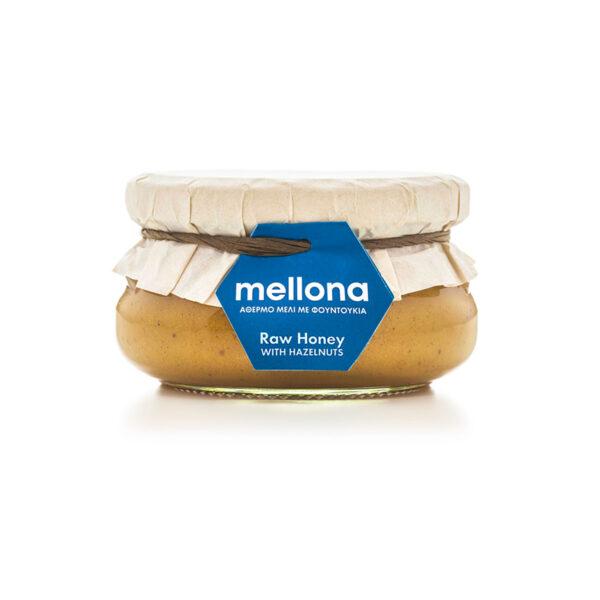 Mellona Raw Honey with Hazelnuts 250g