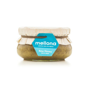 Mellona Raw Honey with Mint 250g