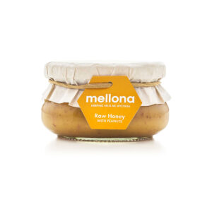 Mellona Raw Honey with Peanuts 250g