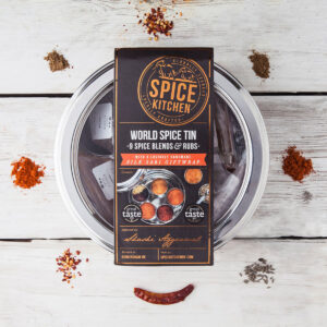 Spice Kitchen World Spice Blends & BBQ Rub Tin Collection