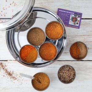 Spice Kitchen World Spice Blends & BBQ Rub Tin Collection