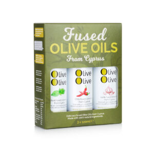 Olive Olive 3 x Fused Extra Virgin Olive Oil Gift Pack (Basil, Garlic & Chilli)