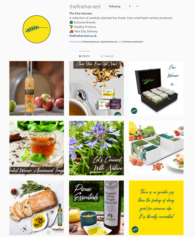Follow The Fine Harvest on Instagram