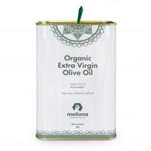 Mellona Organic Extra Virgin Olive Oil 3 Litre Tin