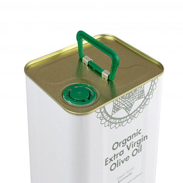 Mellona Organic Extra Virgin Olive Oil 3 Litre Top