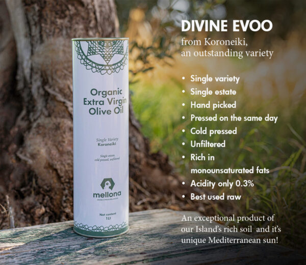 Mellona Organic Extra Virgin Olive Oil 1 Litre Infographic