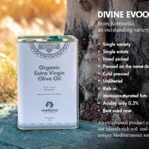Mellona Organic Extra Virgin Olive Oil 3 Litre Infographic