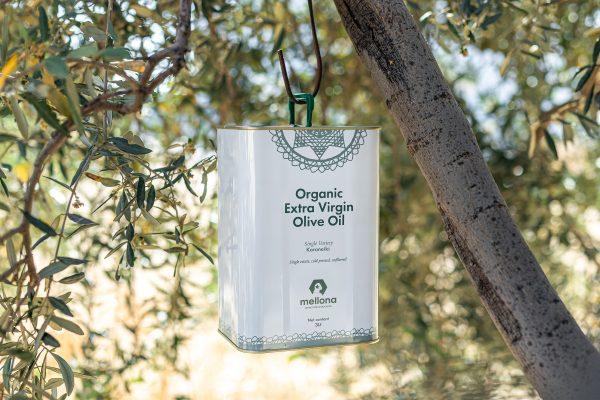 Mellona Organic Extra Virgin Olive Oil 3 Litre Tree