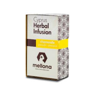 Mellona whole leaf chamomile herbal tea infusion