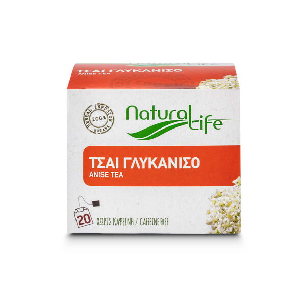 Natural Life Anise Herbal Tea Infusion x 20 Tea Bags Front