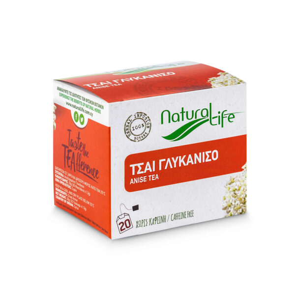 Natural Life Anise Herbal Tea Infusion x 20 Tea Bags Side