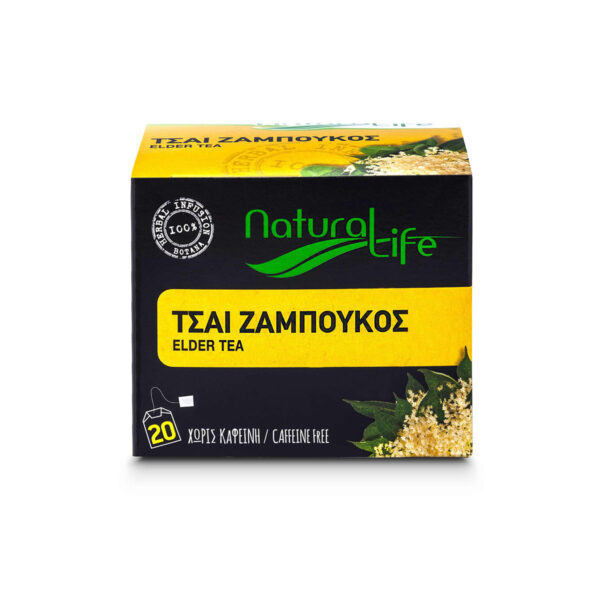 Natural Life Elderflower Herbal Tea Infusion x 20 Tea Bags Front