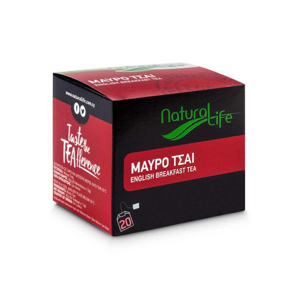 Natural Life English Breakfast Black Tea x 20 Tea Bags Side