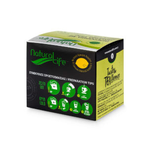 Natural Life Green Tea With Lemon & Ginger Tea x 20 Tea Bags Back