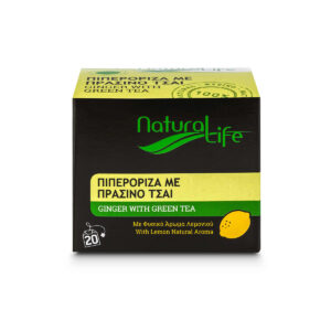 Natural Life Green Tea With Lemon & Ginger Tea x 20 Tea Bags Front