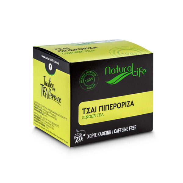 Natural Life Ginger Herbal Tea Infusion x 20 Tea Bags Side