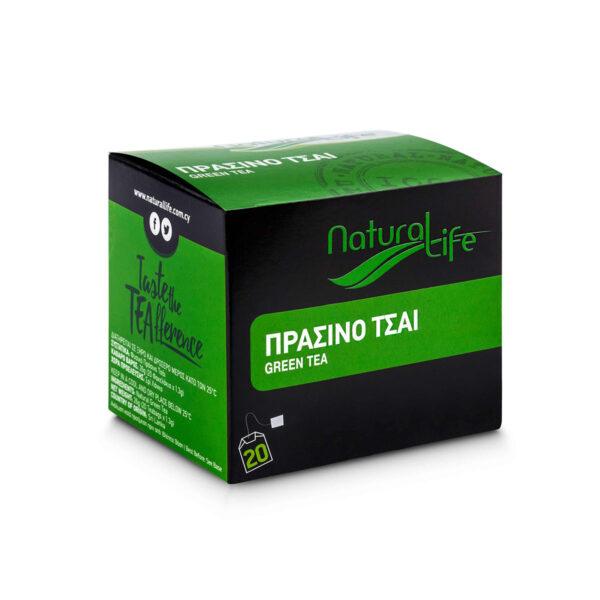Natural Life Green Tea x 20 Tea Bags Side