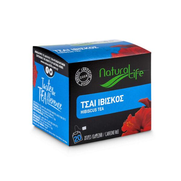 Natural Life Hibiscus Herbal Tea Infusion x 20 Tea Bags Side