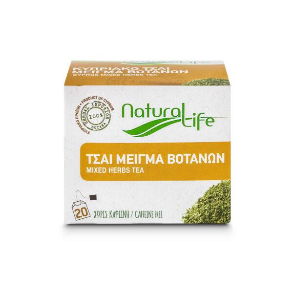 Natural Life Mixed Herb Tea Infusion x 20 Tea Bags Front