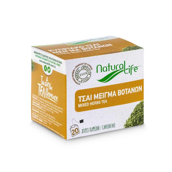 Natural Life Mixed Herb Tea Infusion x 20 Tea Bags Side