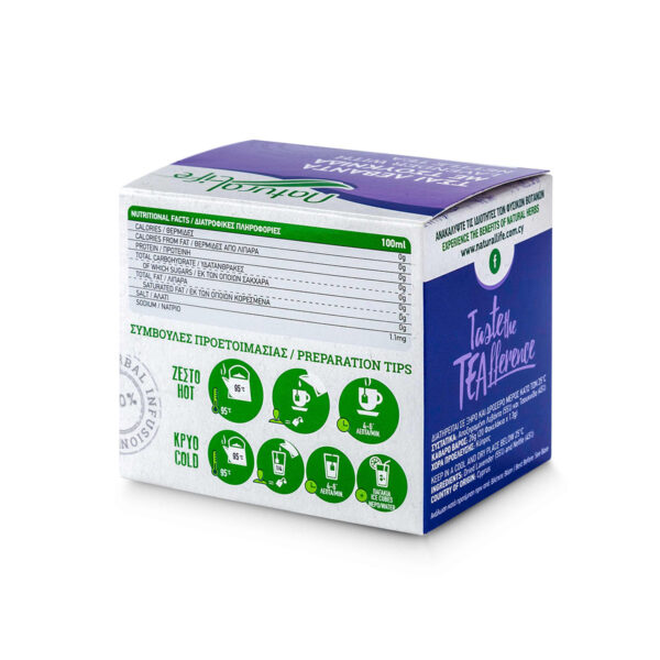 Natural Life Lavender & Nettle Herbal Tea Infusion x 20 Tea Bags Back