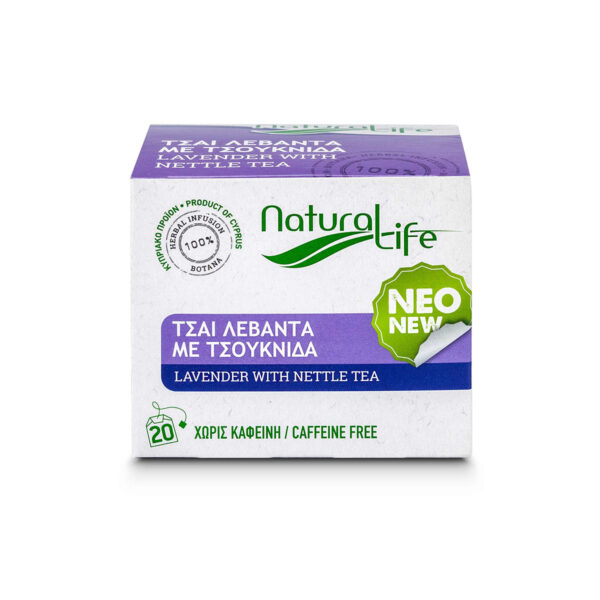 Natural Life Lavender & Nettle Herbal Tea Infusion x 20 Tea Bags Front