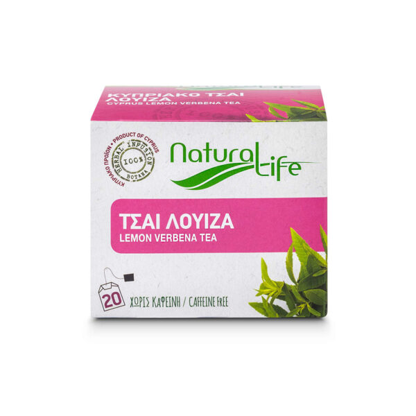 Natural Life Lemon Verbena Herbal Tea Infusion x 20 Tea Bags Front