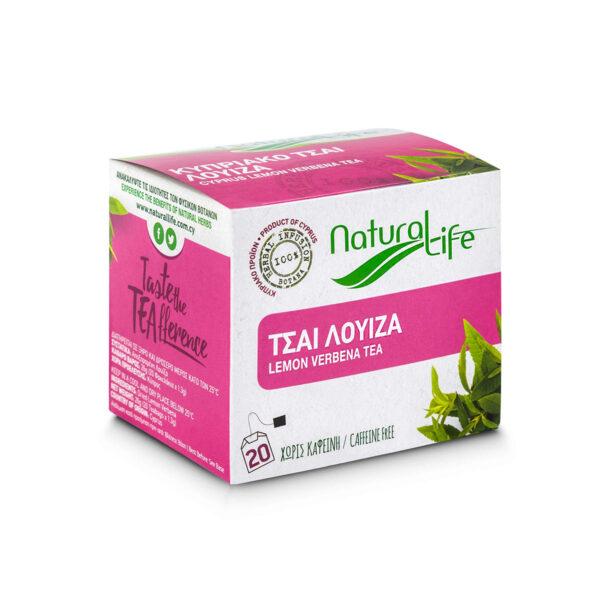Natural Life Lemon Verbena Herbal Tea Infusion x 20 Tea Bags Side