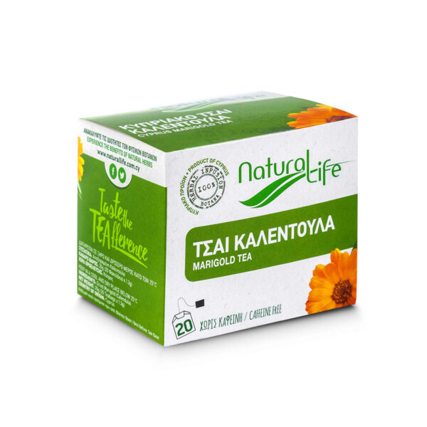 Natural Life Marigold Herbal Tea Infusion x 20 Tea Bags Side