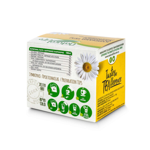 Natural Life Chamomile Herbal Infusion Tea Back