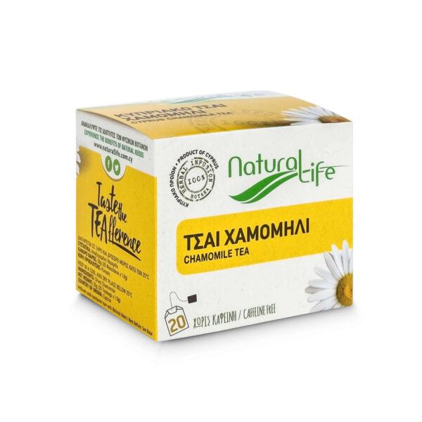 Natural Life Chamomile Herbal Infusion Tea Side