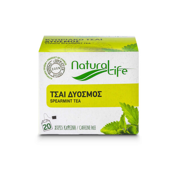 Natural Life Spearmint Herbal Infusion Tea Front