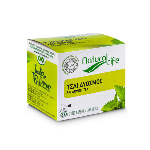 Natural Life Spearmint Herbal Infusion Tea Side