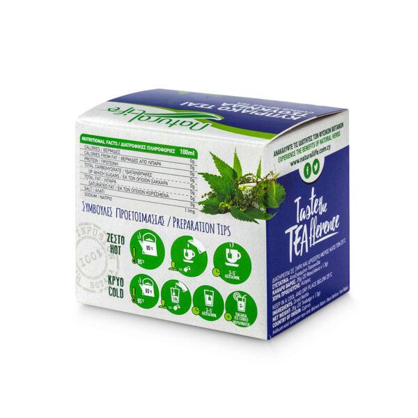 Natural Life Nettle Herbal Tea Infusion x 20 Tea Bags Back