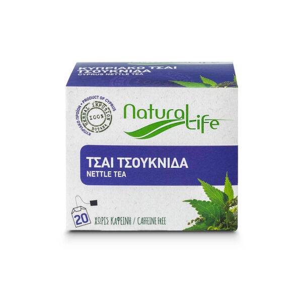 Natural Life Nettle Herbal Tea Infusion x 20 Tea Bags Front