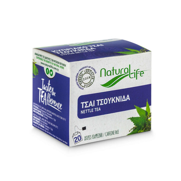 Natural Life Nettle Herbal Tea Infusion x 20 Tea Bags Side