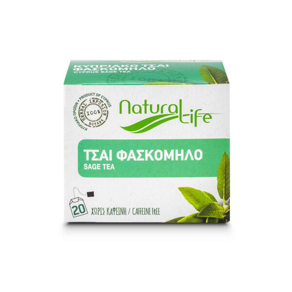 Natural Life Sage Herbal Tea Infusion x 20 Tea Bags Front
