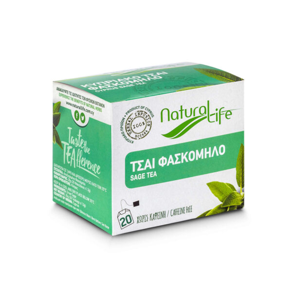 Natural Life Sage Herbal Tea Infusion x 20 Tea Bags Side
