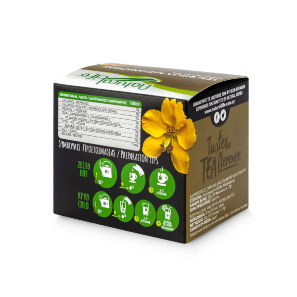 Natural Life Senna Leaves Herbal Tea Infusion x 20 Tea Bags Back