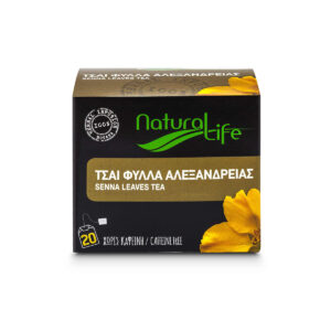 Natural Life Senna Leaves Herbal Tea Infusion x 20 Tea Bags Front