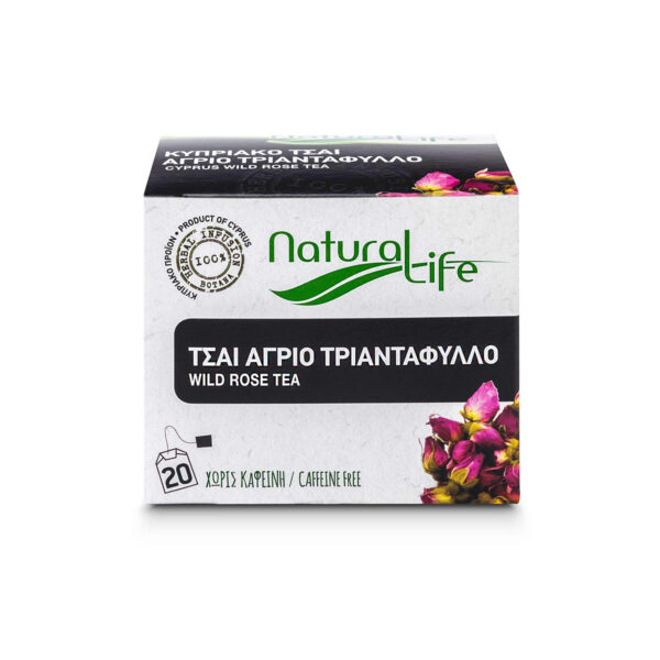 Natural Life Wild Rose Herbal Tea Infusion x 20 Tea Bags Front