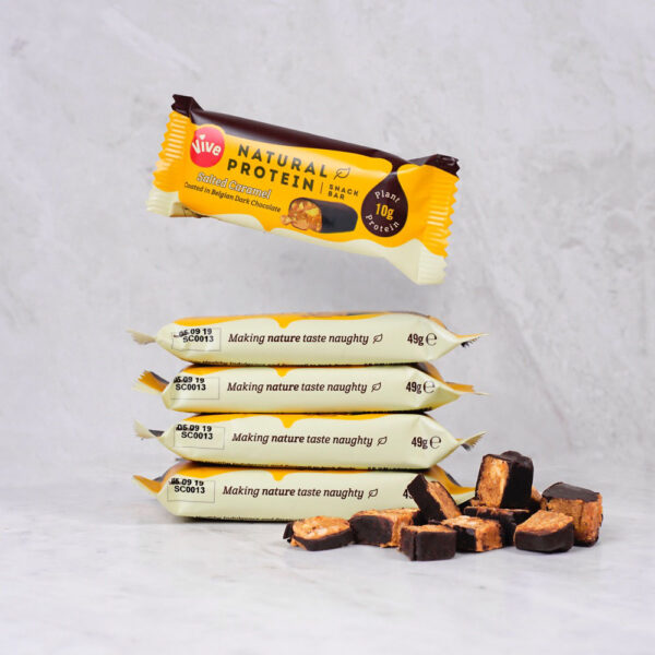 Vive Dark Chocolate Protein Bar Salted Caramel 3