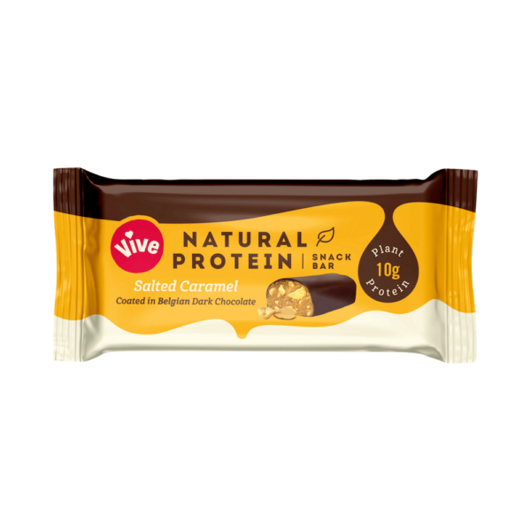 Vive Dark Chocolate Protein Bar Salted Caramel