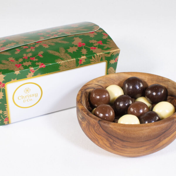 Chrissy & Co. Belgian Chocolate Hazelnuts Gift Set Ballotin Box, 350g