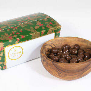 Chrissy & Co. Belgian Chocolate Peanuts Gift Set Ballotin Box, 400g